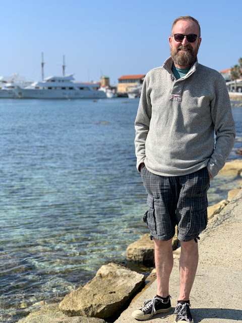 dad of 7 in Paphos harbour, Cyprus