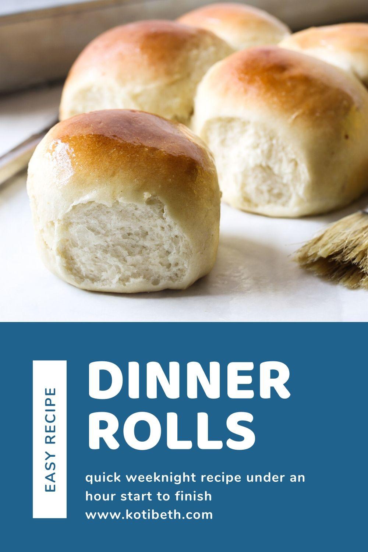 Easy Weeknight Dinner Roll Recipe Quick Using Kitchenaid Mixer