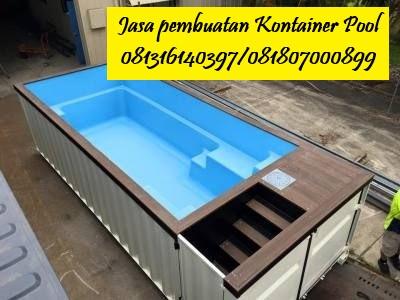 JASA PEMBUATAN CONTAINER POOL, Kontainer kolam renang | CILEGON