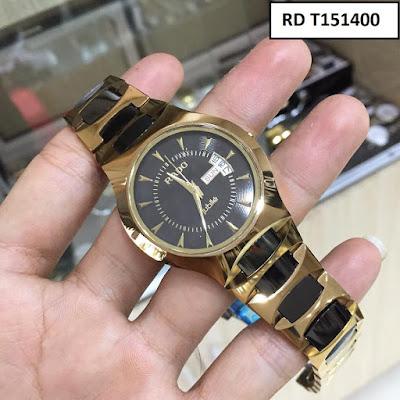 Đồng hồ đeo tay nam mặt tròn dây đá ceramic RD T151400