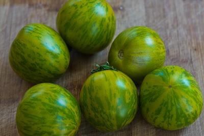 Green Tomato Gazpacho with Green Zebra Tomatoes, Cucumber, and Avocado found on KalynsKitchen.com