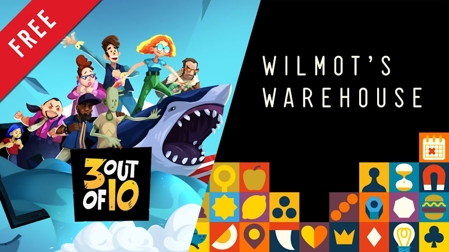 3 out of 10 wilmot's warehouse free pc game epic games store co-op indie puzzle comedy exploration adventure game terrible posture games hollow ponds finji