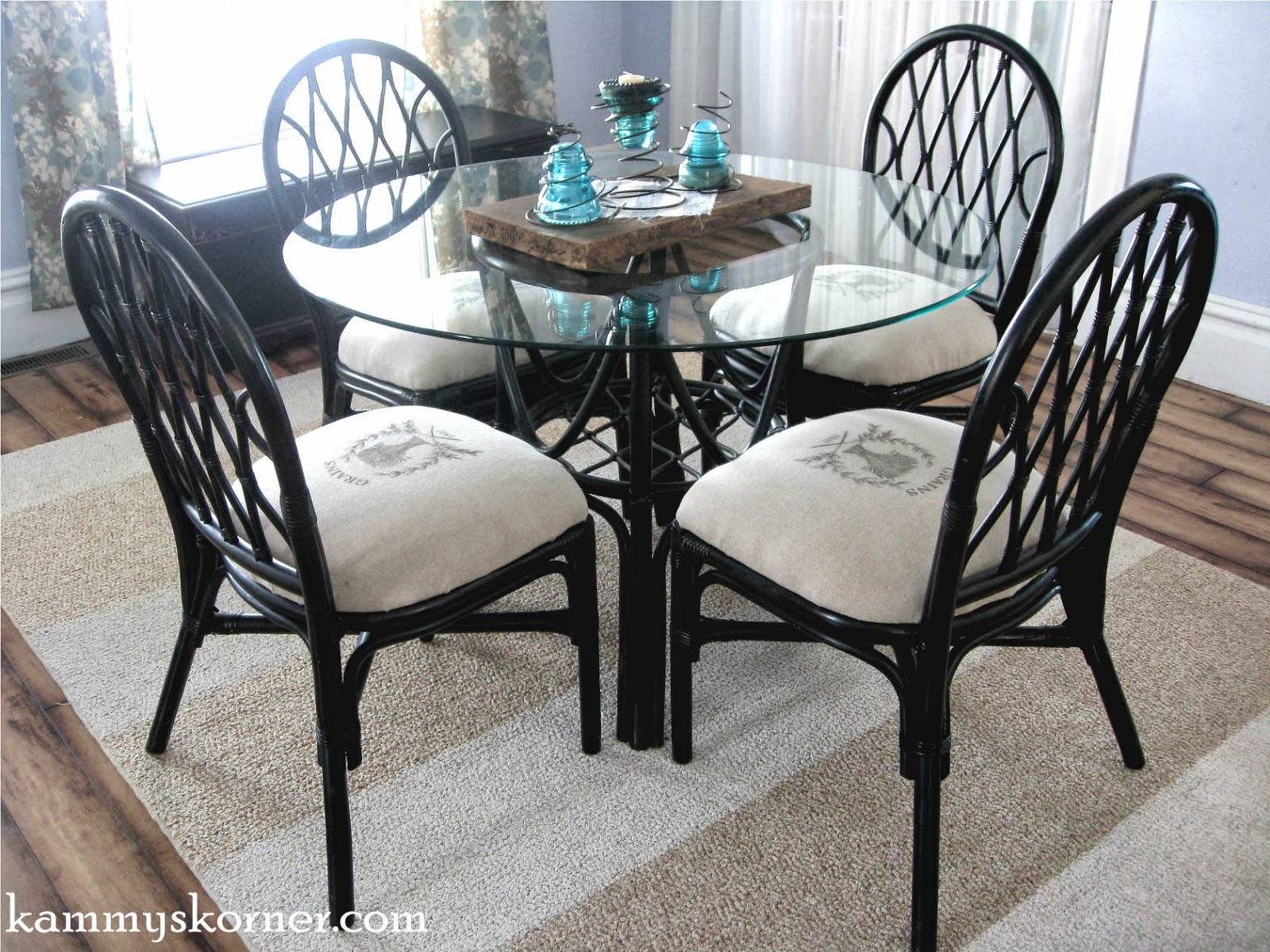 Bamboo Dining Chair Kammy 39s Korner Rattan Dining Chairs Makeover Image
