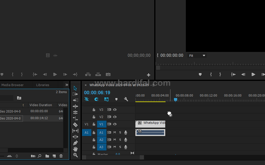 masalah tidak bisa drag video ke timeline adobe premiere