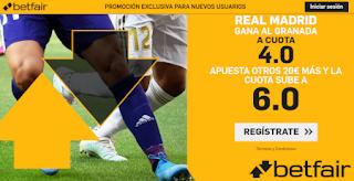 betfair supercuota liga Real Madrid gana a Granada 5-10-2019