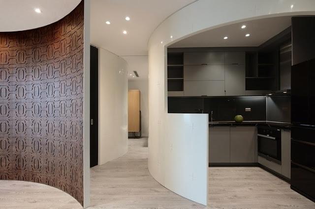 Ngôi nhà phố sở hữu những bức tường cong có khả năng hút hồn khách tham quan