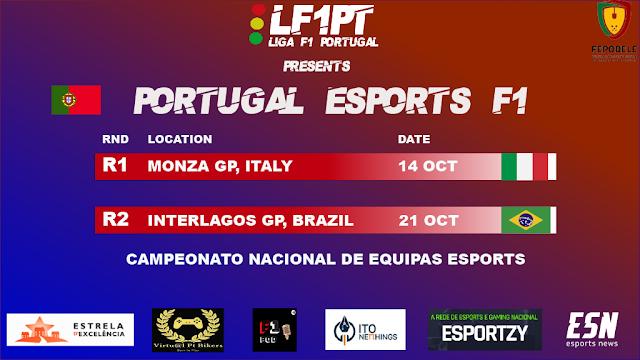 A LF1PT apresenta primeiro campeonato nacional F1 de equipas de Esports
