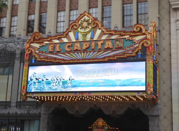 Rogue One Star Wars Story El Capitan Theatre