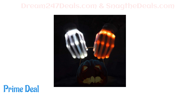 60% OFF VAZILLIO Flashing LED Skeleton Glove Light up Glowing Finger Toys,