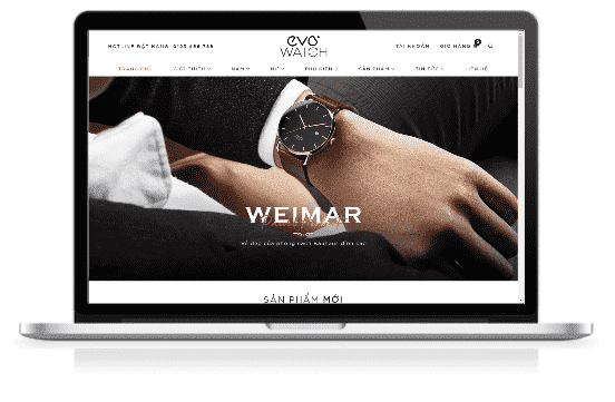 Giao diện blog bán hàng Đồng hồ đeo tay