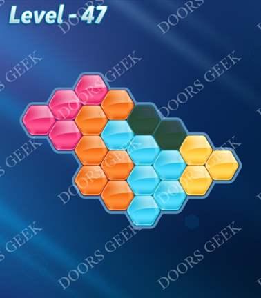 Block! Hexa Puzzle [5 Mania] Level 47 Solution, Cheats, Walkthrough for android, iphone, ipad, ipod