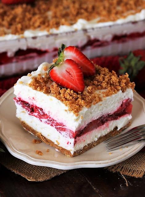 Slice of Fresh Strawberry Yum Yum Image