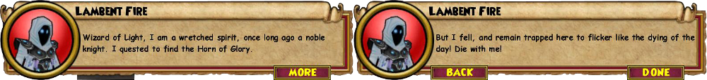 Lambent Fire - Wizard101 Test Realm Skeleton Key Boss Cheat / Drop Guide