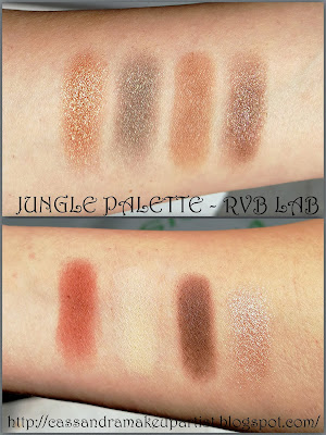 Review recensione La Roche-Posay & RVB LAB by Diego Dalla Palma -  swatch swatches ombretto - eyeshadow - jungle palette - matita occhi water resistant