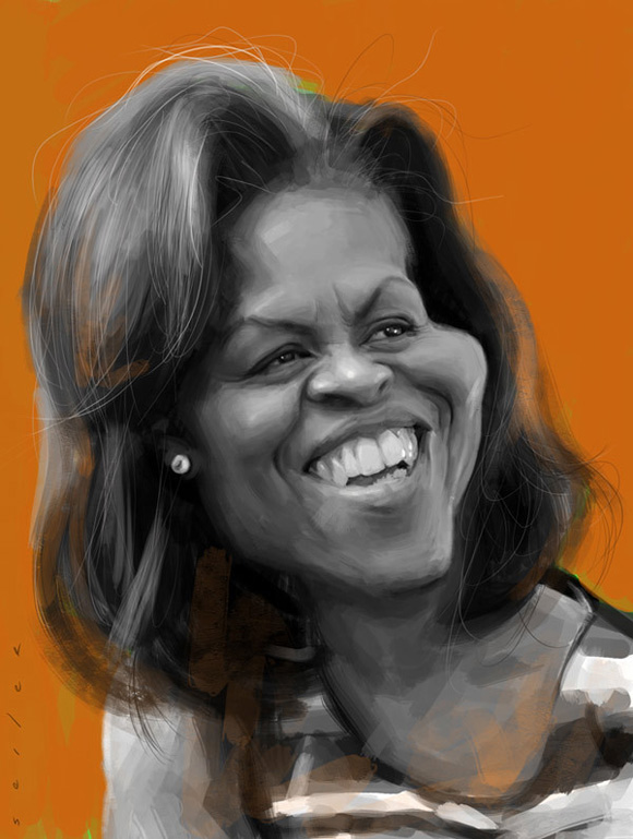 Caricatura de Michelle Obama