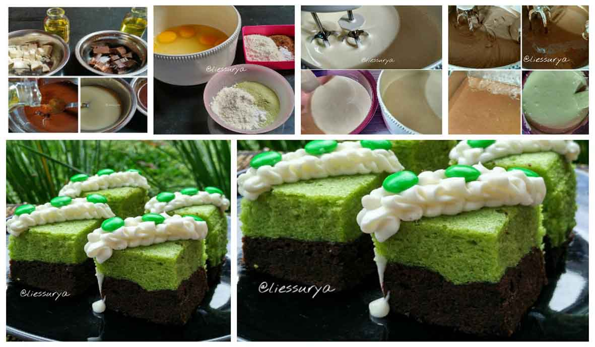 Brownies Kukus Cokelat Green Tea