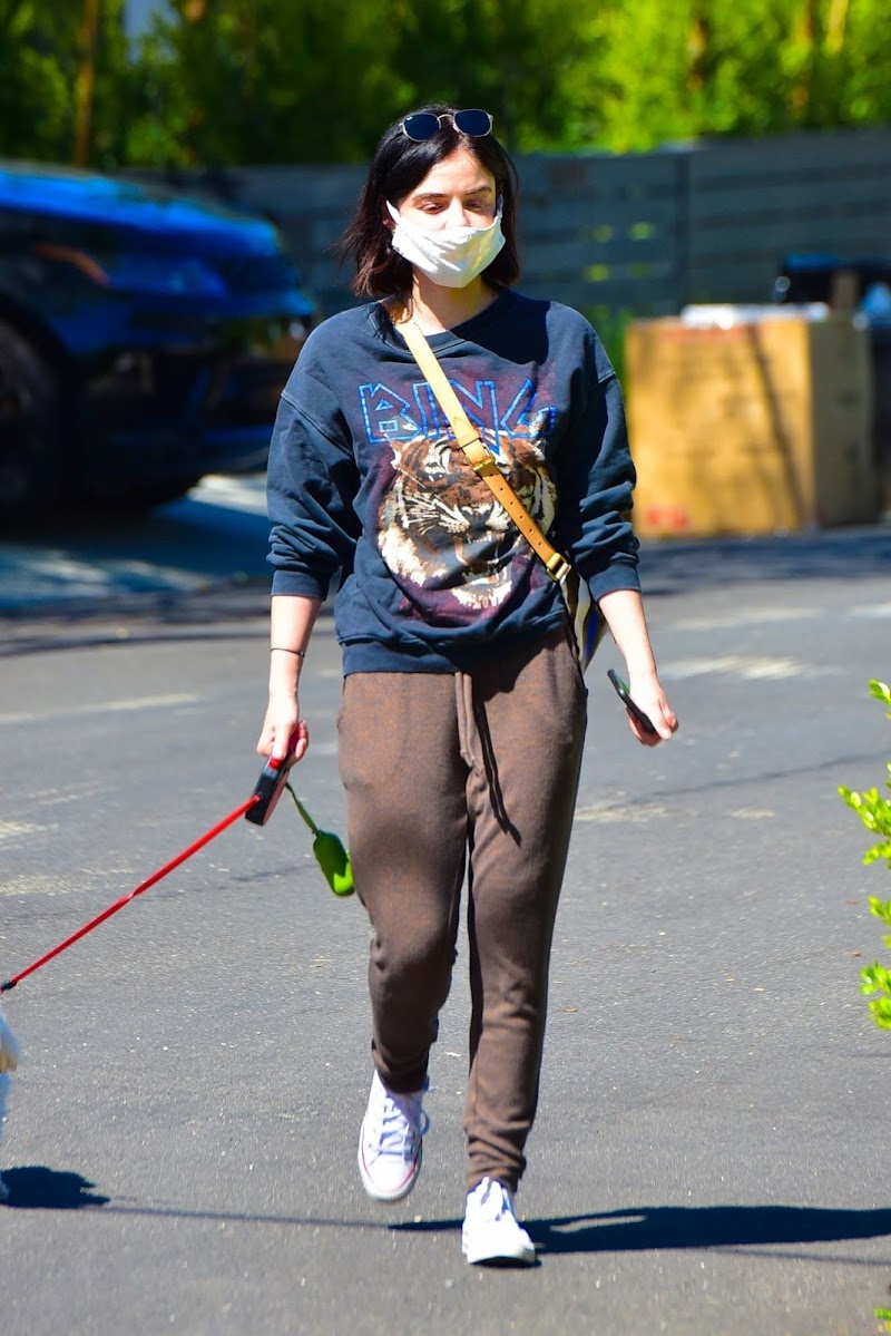 Lucy Hale At outside Her Dog in Studio City 22 Apr-2020