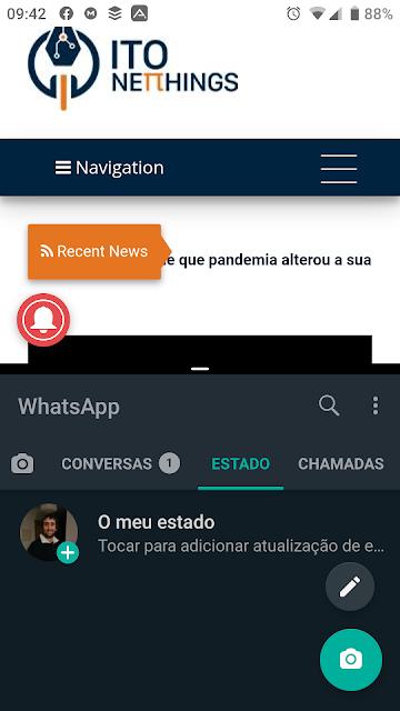 Como dividir o ecrã em dois no Android?