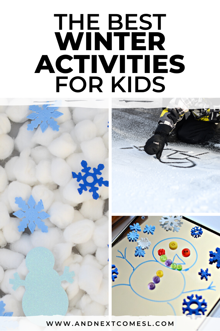 Winter activities for kids of all ages (even toddlers and preschoolers!) that can be enjoyed indoors and outdoors - lots of winter crafts too!