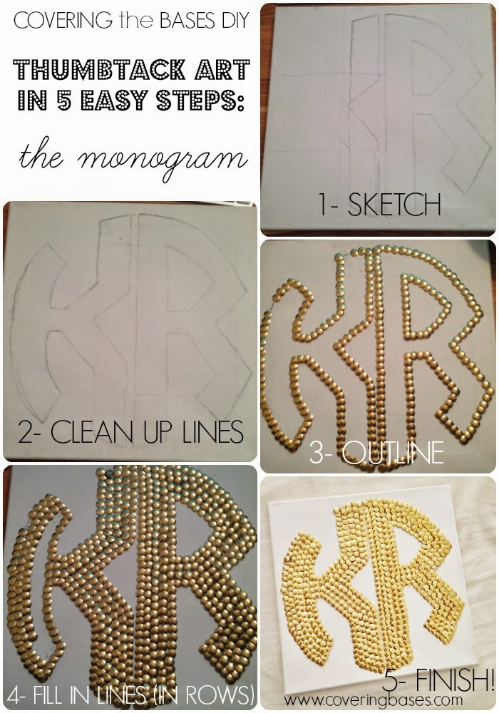 How to make a Monogram out of Thumbtacks, How to DIY your Monogram