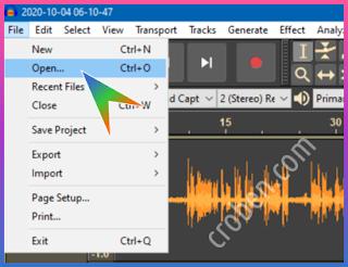 Croben.com Reduce Audio Noise Step 1