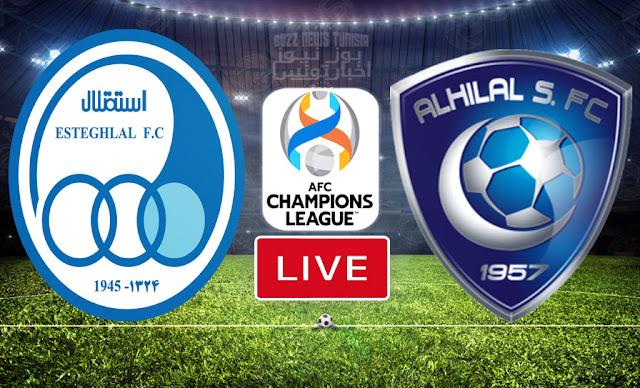 بث مباشر   مشاهدة مباراة  نادي الهلال السعودي ضد  نادي استقلال طهران في دوري أبطال آسيا
