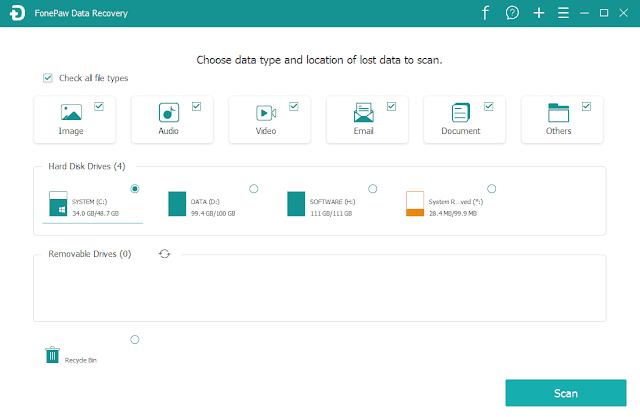 Screenshot FonePaw Data Recovery 1.6.0 Full Version