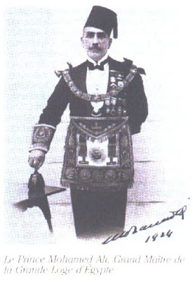 Mohamed Ali Tawfik , the Grand Master of Egypt lodge