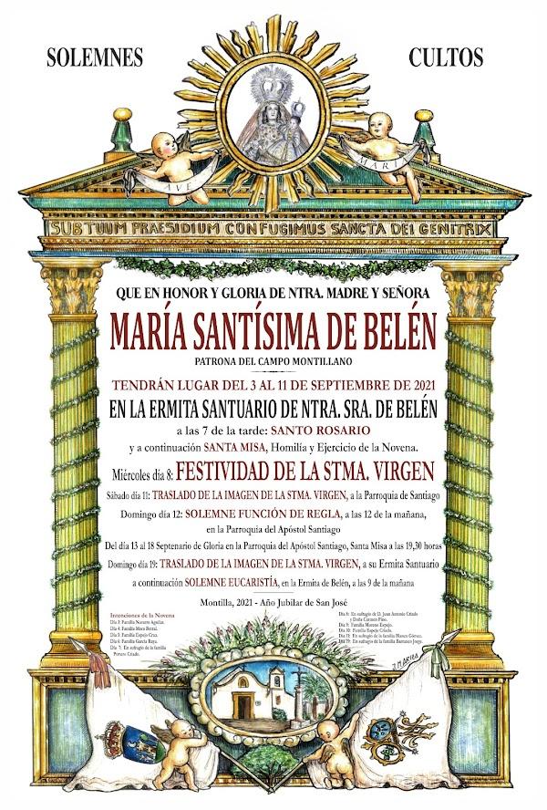 Cultos en Honor y Gloria de Nuestra Madre y Señora de María Santísima de Belén 2021, de Montilla