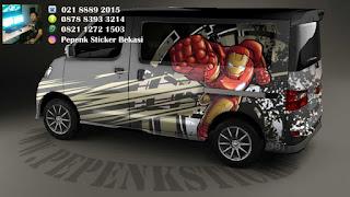 Sticker mobil luxio Iron Man
