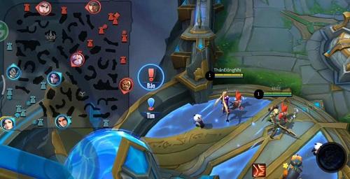 Quan sát minimap giúp người chơi nắm được diễn biến thế trận