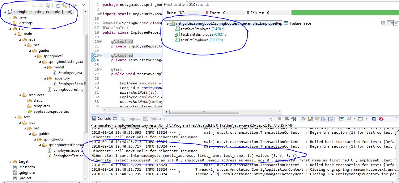 Spring Data JPA Repository Testing using Spring Boot @DataJpaTest