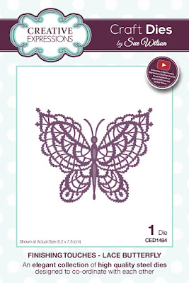 CED1484 Finishing Touches Lace Butterfly