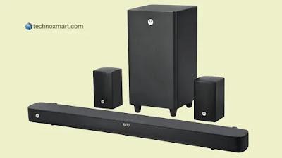 Motorola AmphisoundX 200W 5.1 Soundbar, 100W Soundbar Launched In India