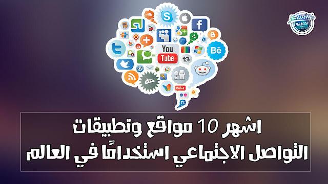 اكثر 10 مواقع وتطبيقات التواصل الاجتماعي استخدامًا في العالم