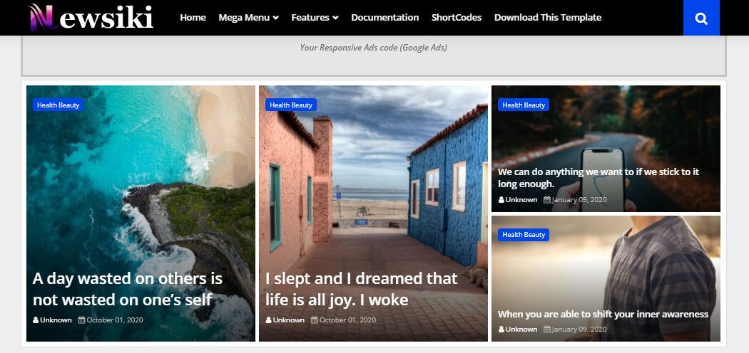 Newsiki  is a perfect release blogger theme for a news or magazine site with the focus of bringing and operate visitors on site easyly.