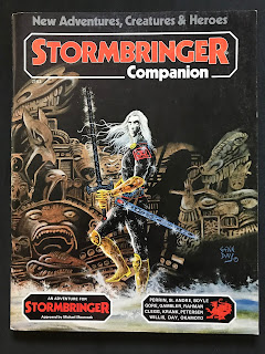 Cover of the Stormbringer Companion, published by Chaosium.
