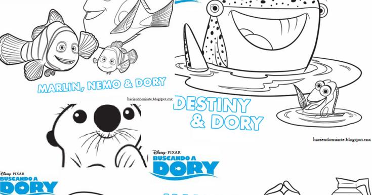 Buscando A Dory Para Colorear E Imprimir: Haciendo Mi Arte: Paginas Para Colorear De: Buscando A Dory