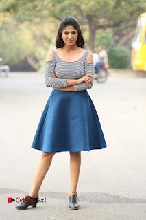Telugu Actress Roshini Prakash Stills Short Dress at Saptagiri Express Release Press Meet  0248.JPG