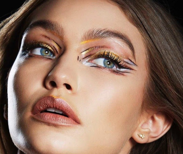 Gigi Hadid shows us a makeup of the most bizarre,Makeup, Fashion, Beauty,Gigi Hadid,amazing Makeup