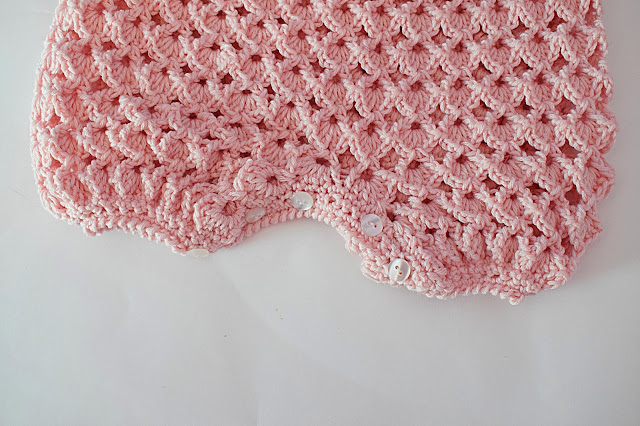 4 -Crochet IMAGEN Pelele rosa para todo el año. MAJOVEL CROCHET