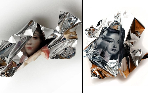 00-Martin-C-Herbst-Oil-Painting-on-Folded-Mirror-Polished-Aluminium-Foil-www-designstack-co