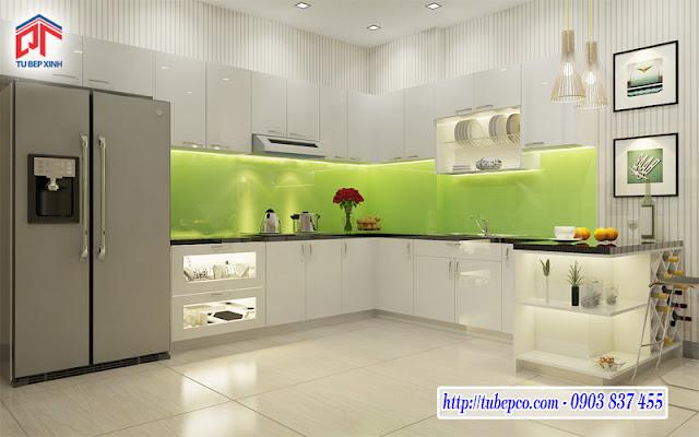 Tủ bếp chữ L phù hợp với mọi không gian nhà bếp