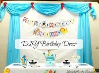 DIY Birthday Party Backdrop