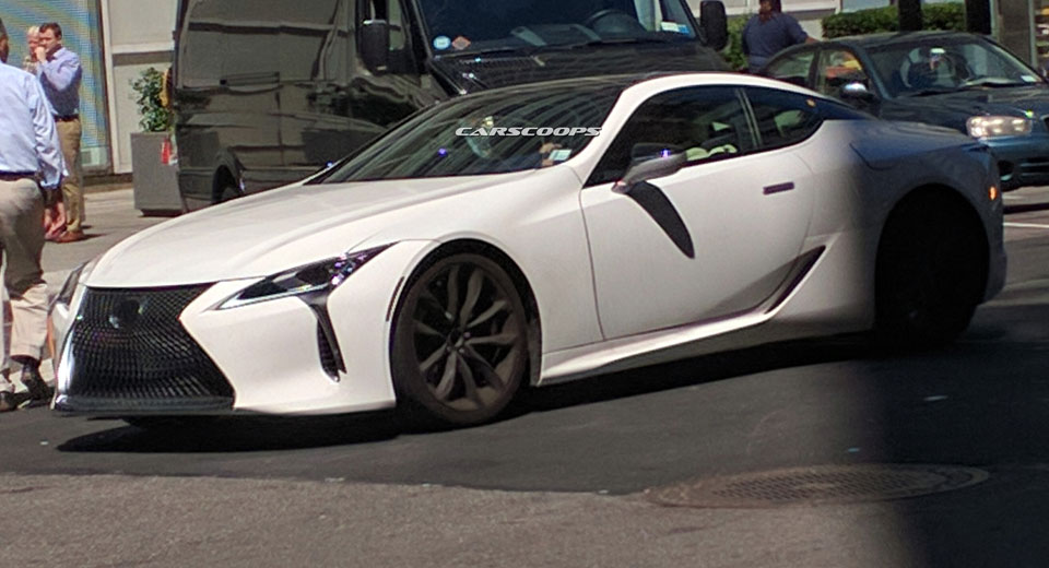 lexus lc500 strangely snapped on new york's streets before 2017