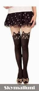 CHOPMALL(TM)Lovely Sexy Tights Stockings Cat Tail Leggings Tattoo Socks Sheer Lady Pantyhose