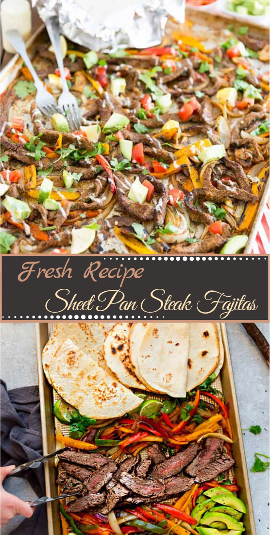 Sheet Pan Steak Fajitas #dinnerrecipe #food #amazingrecipe #easyrecipe