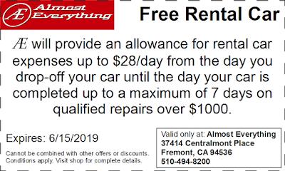 Coupon Free Rental Car May 2019