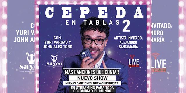 """Andrés Cepeda regresa al streaming con ahora  """"Cepeda en Tablas, Más Canciones que Contar, Live Streaming"""""""