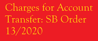 Charges for Account Transfer from one post office to other post office